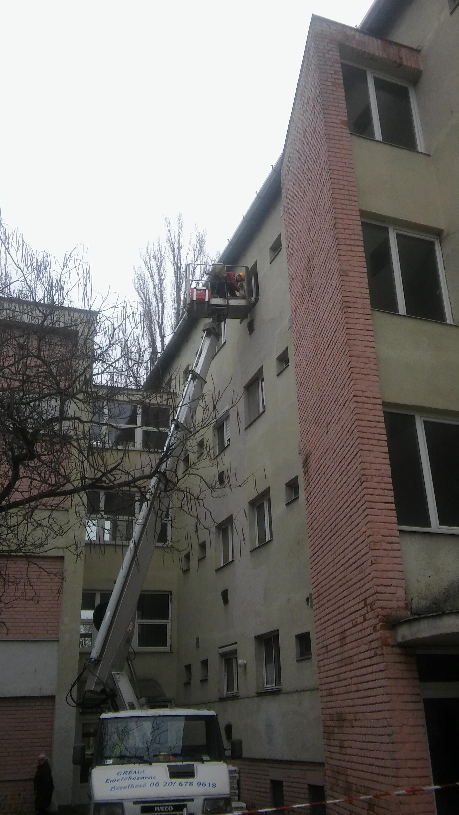 Emelőkosaras daru bérbeadás, Fakivágás emelőkosárról - Kovács Roland